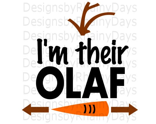 Buy 3 get 1 free! I'm their Olaf cutting file, SVG, PNG, siblings