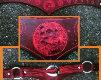 Leather belt moon phases