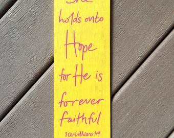 1 Corinthians 1:9 Handpainted Sign