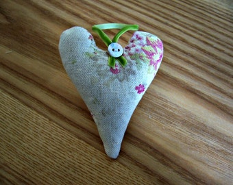 Small Lavender Filled Hanging Heart