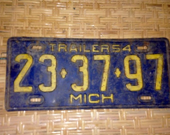 1954  Michigan  license plate