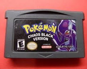 Pokemon Chaos Black Version GBA