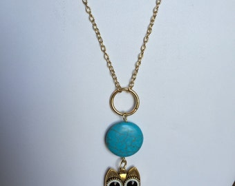 Long Owl Necklace 24""