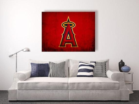 Los Angeles Angels Of Anaheim Vintage Style Canvas Print