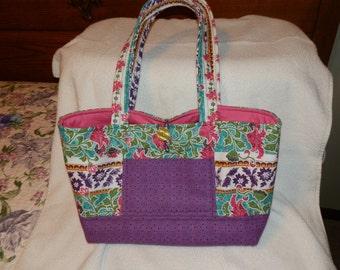 Multi-colored fabric purse