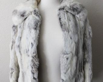 REDUCED 1970s Dino Ricco vintage rabbit fur jacket size small