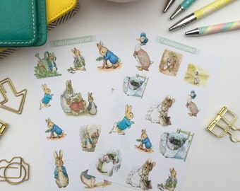 Beatrix Potter stickers, Peter rabbit stickers, Peter rabbit planner stickers, beatrix potter planner stickers, planner stickers