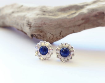 Lapis Lazuli Earrings Lapis Earrings Gemstone Earrings Sterling Silver Blue Earrings Blue Lapis Earrings Blue Stone Earrings Lapis Jewelry