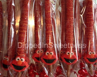 Elmo chocolate covered pretzels- 1 dozen