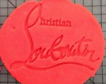 New Christian Louboutin cokie cutter embosser large fondant gumpaste french designer logo red sole shoes