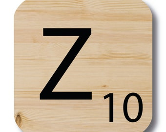 """Letter """"Z"""" wood Scrabble"""