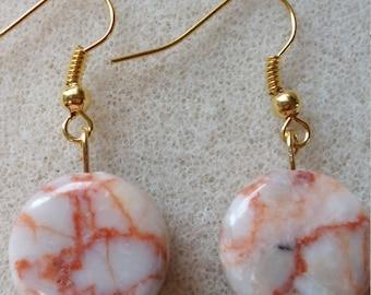 Redline marble earrings