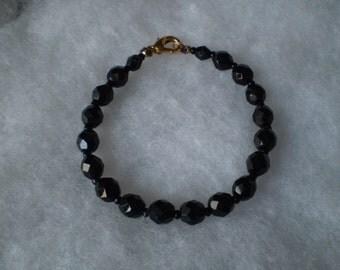 Costume Vintage Black Austrian Crystal Bracelet