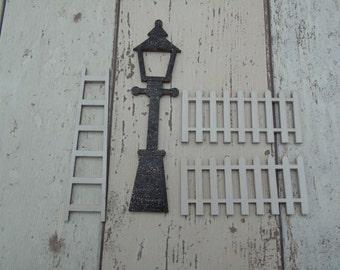Fairy Door Accessories  Ladder/ Lamp Post/ Picket Fence