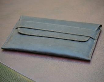 Leather iPad mini sleeve, iPad mini case, leather clutch, leather case, leather sleeve, women leather clutch, men leather clutch, iPad cover