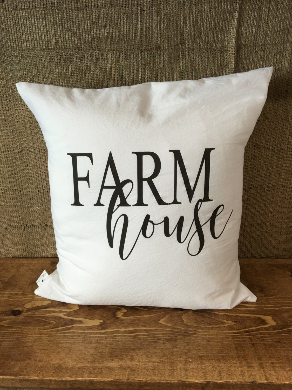 Throw Pillow Covers Farmhouse : Farmhouse Pillow Cover throw pillow cushion cover farmhouse