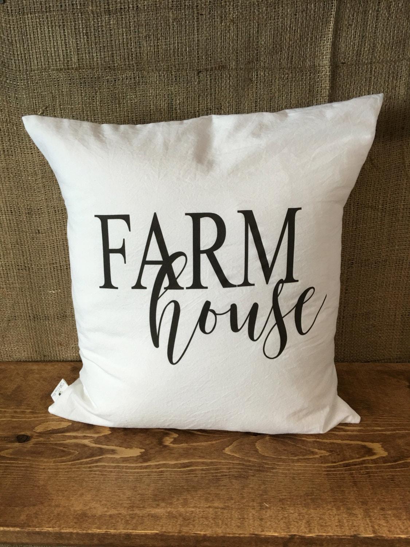Farmhouse Pillow Cover throw pillow cushion cover farmhouse