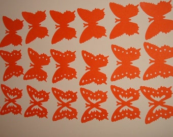 Butterfly paper multi color confetti. 30 pcs., 1""
