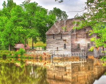 Historic Yate's Millpond, Raleigh, North Carolina, Rustic, Reflections