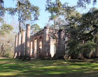 Old Sheldon Church, Beaufort, South Carolina, Southern, Church, Historic