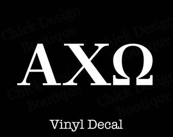 Alpha Chi Omega Greek Alphabet Letters Vinyl Decal