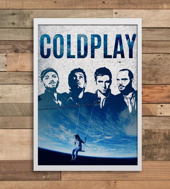Indie Art Coldplay Chris Martin Wall Art Print Home Decor