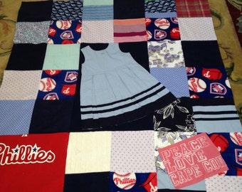 Custom made t-shirt quilt