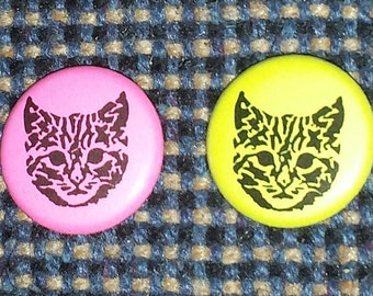 "1"" Cat pinback button"