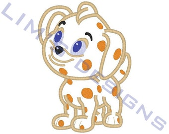 "Bela the dog applique machine embroidery design- 3 sizes 4x4"", 5x7"", 6x10"""