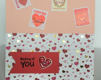 Thinking of you Valentine Card
