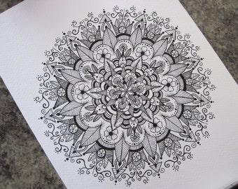 Mandala Design Print #2 - A5