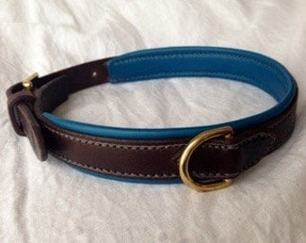 Stitched leather /handmade leather Dog Collar dog collar