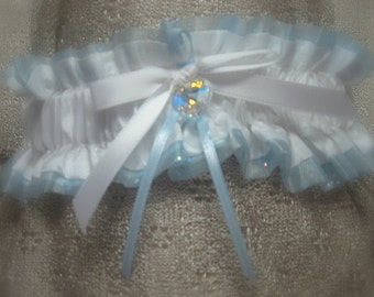 Blue Whisperer Wedding Garter