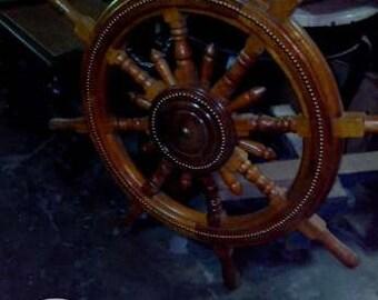 A ship wheel