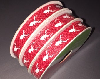 Deer Ribbon - 3/8 inches