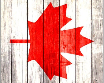Canadian Flag Weathered Wood Cornhole Wrap Bag Toss Decal Baggo Skin Sticker Wraps