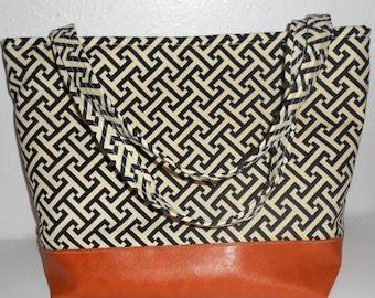 Geometric Greek Key Patterned Baby Bag, Greek key diaper bag, Geometric Purse, shoulder bag, tote bag, Greek key handbag, Greek Key Carry On