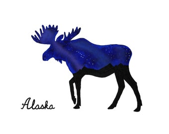 Blue Moose 8x10 PHOTO Print