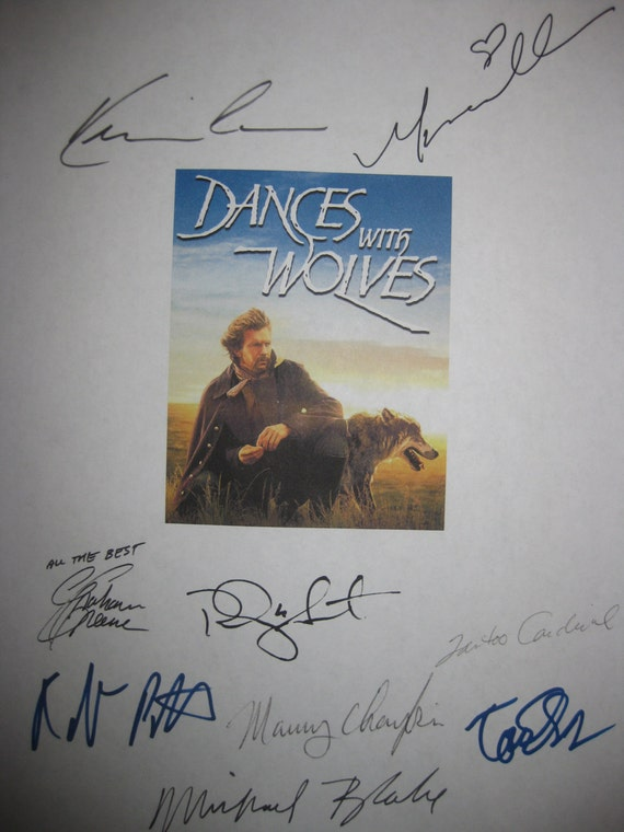 Dances With Wolves Signed Movie Film Script Screeplay Autograph X9 Kevin Costner Mary McDonnell Graham Greene Tantoo Cardinal Tom Everett