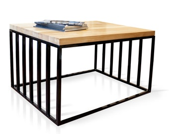 Coffee table cage adventure - solid wood panels