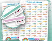 70 Cute Toothbrush/Teeth/Dentist Planner Stickers, Filofax, Erin Condren, Happy Planner,  Kawaii, Cute Sticker, UK