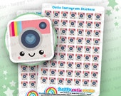 63 Cute Instagram/Social Media/Photography/Camera Stickers, Filofax, Erin Condren, Happy Planner,  Kawaii, Cute Sticker, UK