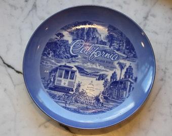 Vintage Souvenir California Collectors Plate Made in Japan
