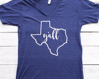 "State ""Y'all"" Shirt (Infant - Child - Adult) Choose Your State"