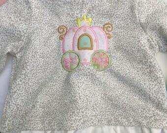 Princess carriage toddler sweater