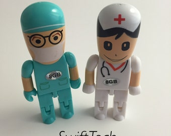 Doctor & Nurse Shaped USB Flash Drive 8 MB- Great Gift!