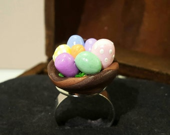 Ring mini Easter baskets