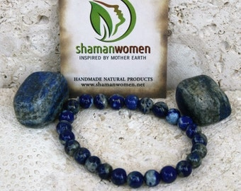Lapis Lazuli  stone and bracelet • Meditation-Energy Healing-Throat Chakra stone-Third eye Chakra stone-lapiz bracelet
