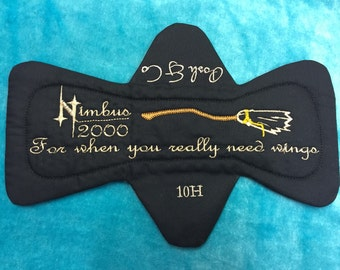Harry potter nimbus 2000 cloth pad fleece back