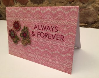 Valentine's Day // Always and Forever Flower Detail Card